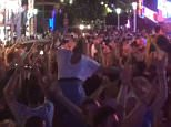 The Magaluf strip erupts into Yaya Toure dance