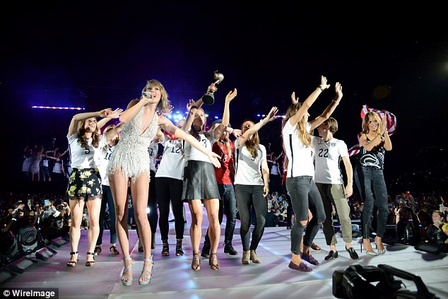 Star-studded: As with several other dates during Taylor's The 1989 World Tour, her famous friends came out during her hit track Style