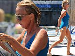 TRUDIE STYLER IN BIKINI IN ISCHIA   Pictured: TRUDIE STYLER Ref: SPL1082680  190715   Picture by:   Splash News  Splash News and Pictures Los Angeles: 310-821-2666 New York: 212-619-2666 London: 870-934-2666 photodesk@splashnews.com