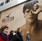 """25 Nov 2009, New York City, New York State, USA --- New York, United States. 25th November 2009 -- File image: A mural promotes the new Hollister store on Fifth Avenue in New York. -- Abercrombie & Fitch announced that they will no longer use """"sexualized marketing"""" in shopping bags, advertising and promotions. Additionally, the entrance to the stores will no longer be manned by shirtless male models. File images 2005-2012. --- Image by © Richard Levine/Demotix/Corbis"""