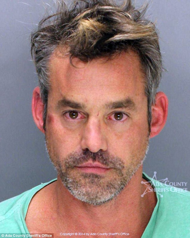 Tough 12 months: Troubled actor Nicholas Brendon (pictured after his October arrest in Boise, Idaho) has asked Dr. Drew Pinsky to help him