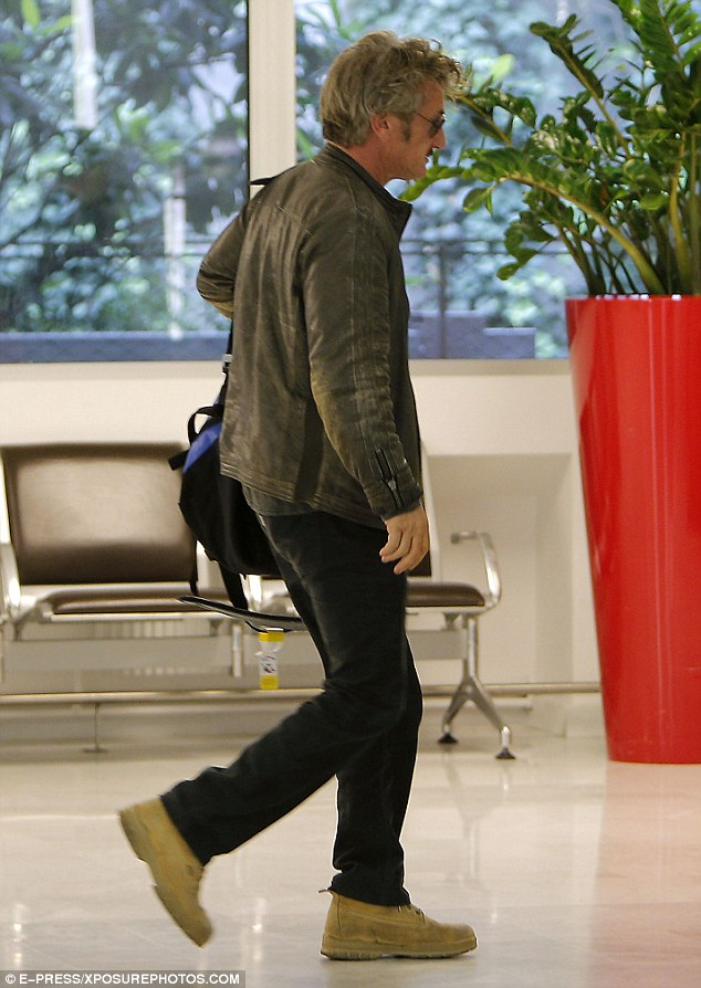 Back to normality: Sean Penn was spotted in Paris, France on Monday looking downcast