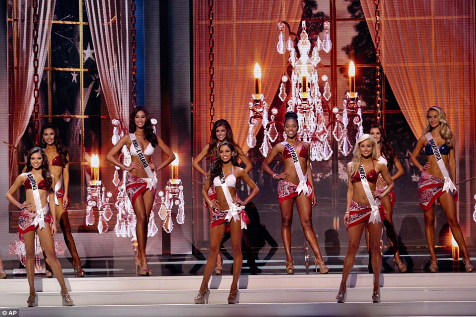 Contestants from Arizona, Rhode Island, Delaware, Illinois, Oklahoma and More compete in the 64th annual Miss USA pageant on Sunday
