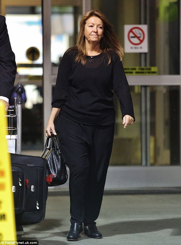 Grandma withdrawals! Lara Bingle's mother Sharon touched down in Canada on Monday to see her daughter and grandson, Rocket Zot, while son-in-law Sam Worthington shoots new movie, The Shack