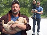 """Picture Shows: Samuel Affleck, Ben Affleck  July 20, 2015\n \n Ben Affleck is spotted wearing his wedding ring while out for a stroll with his son Samuel in Atlanta, Georgia. Ben is in town to spend time with his estranged wife Jennifer Garner while she films her new movie """"Miracles From Heaven."""" \n \n Non-Exclusive\n UK RIGHTS ONLY\n \n Pictures by : FameFlynet UK © 2015\n Tel : +44 (0)20 3551 5049\n Email : info@fameflynet.uk.com"""