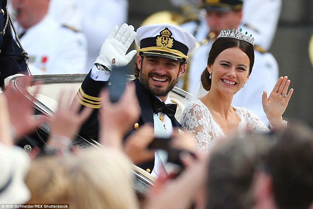 Royal wave: The 30-year-old is now known as Princess Sofia, Duchess ofVärmland