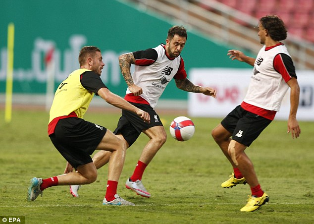 Danny Ings (centre) has plenty to prove and will be a decent option for Liverpool, according to Carragher