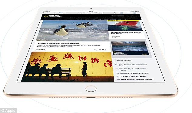 By comparison, the iPad Air 2 (pictured) is 9.4 inches x 6.7 inches by 0.24 inches (240 mm x 169.5 mm x 6.1 mm).Sources have suggested different launch times for the iPad Air Plus, but the general consensus is that the supersized tablet may make its debut before the summer