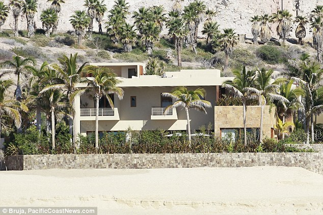 Dreamy: Clooney's holiday home was designed by the famous Mexican architect Ricardo Legorreta. The enormous ocean-front property boasts high ceilings and breath-taking views of the Sea Of Cortez