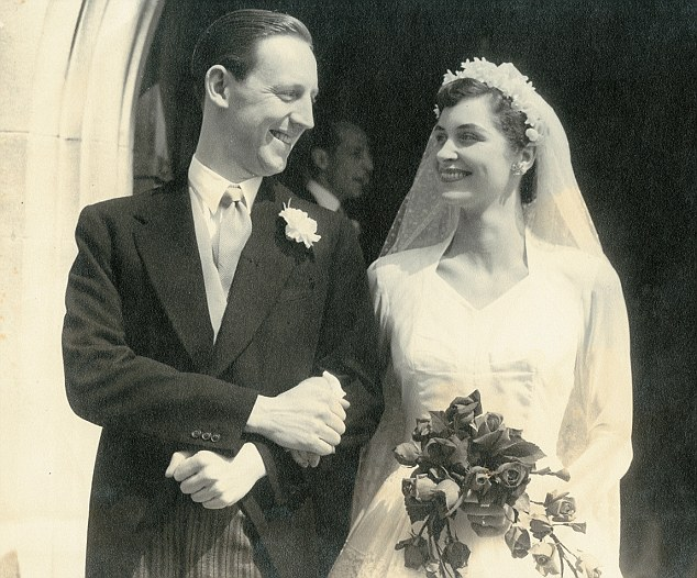 True love: She married Jim Smith in 1954 and moved to Hertfordshire where she raised her three children