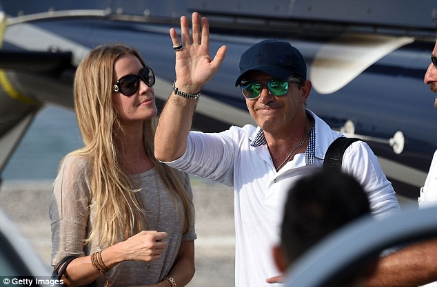 Give us a wave!Other guests who attended included Nicole Kempel and Antonio Banderas...