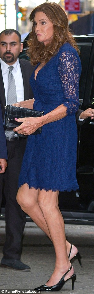 In step with style: The former athlete has been wearing a lot of dresses since her big reveal this June