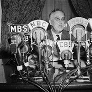 Franklin D. Roosevelt on the air
