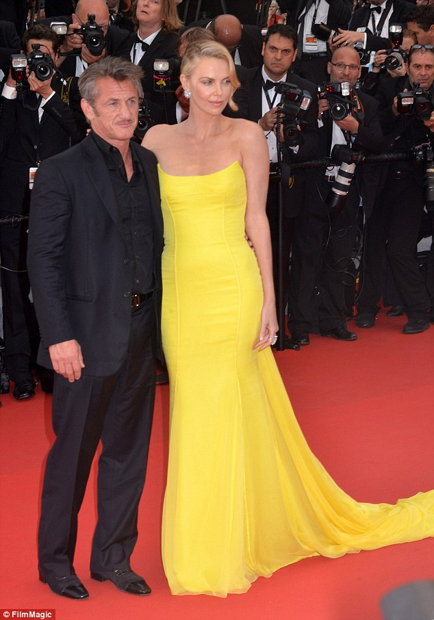 Break-up: Charlize and Sean Penn both attended the Cannes Film Festival in mid May, and looked happy together at the premiere of her film Mad Max: Fury Road on May 14