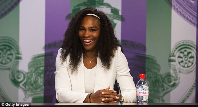Serena joked at one of her Wimbledon press conferences, pictured, that her dance group would like to perform on TheEllen DeGeneres Show