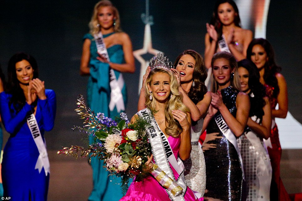 Newly crowned Miss USA Olivia Jordan, from Oklahoma, won the 64th annual Miss USA contest on Sunday, beating out 50 other women from states around the country and the District of Columbia
