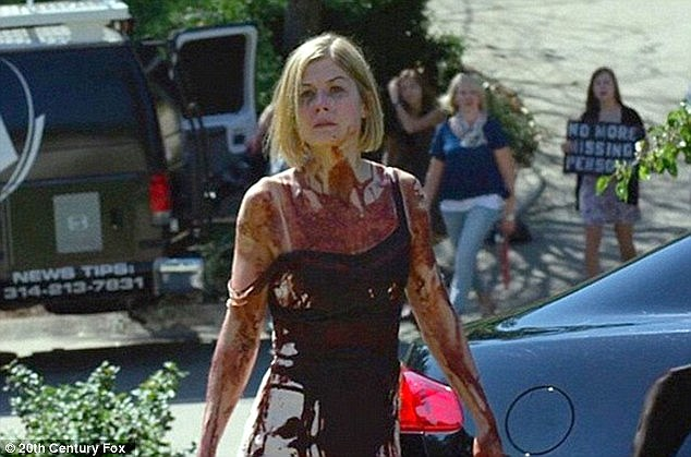 The case was compared by many to the film Gone Girl (above) in which a woman fakes her kidnapping