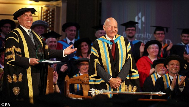 Hard work: Sir Patrick held the role for 11 years and credits the post with an uptick in his career