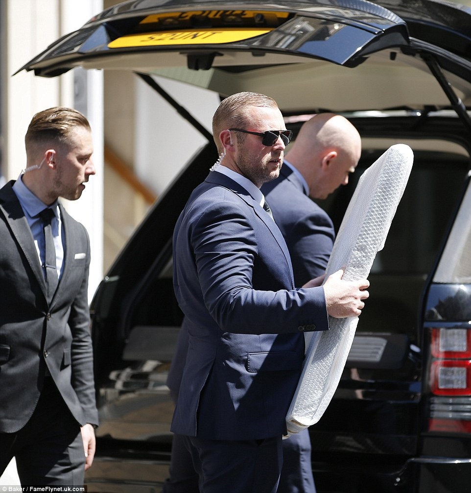 Mr Ecclestone believes his son-in-law was inspired by his time in America, 'Everyone who wants to be known there has to have a bodyguard,' he added