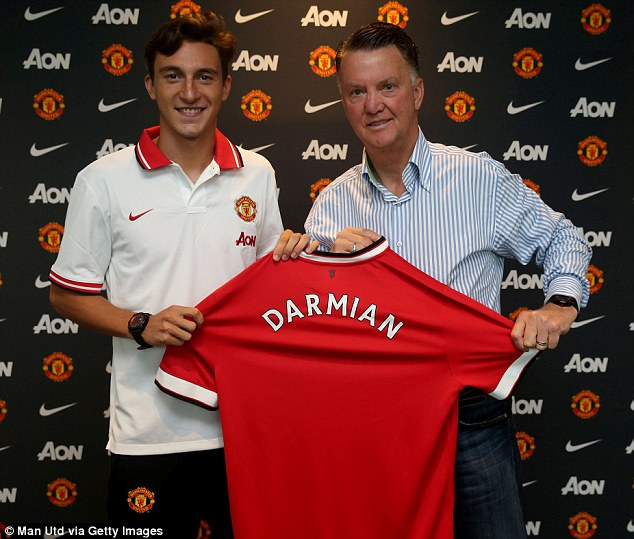 United also announced the signing of right back Matteo Darmian from Torino last week