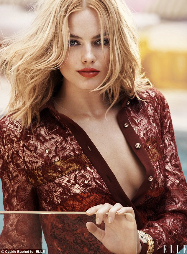 Blonde bombshell Margot Robbie shows off her 'undeniable sex appeal' in the latest issue of Elle magazine