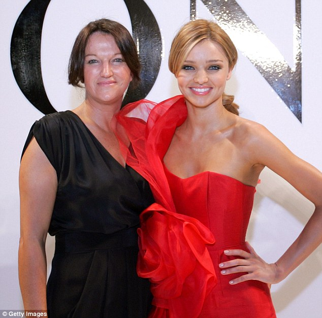 The apple never falls far from the tree: Therese Kerr, pictured with her model daughter Miranda Kerr, has raised eyebrows with her diet
