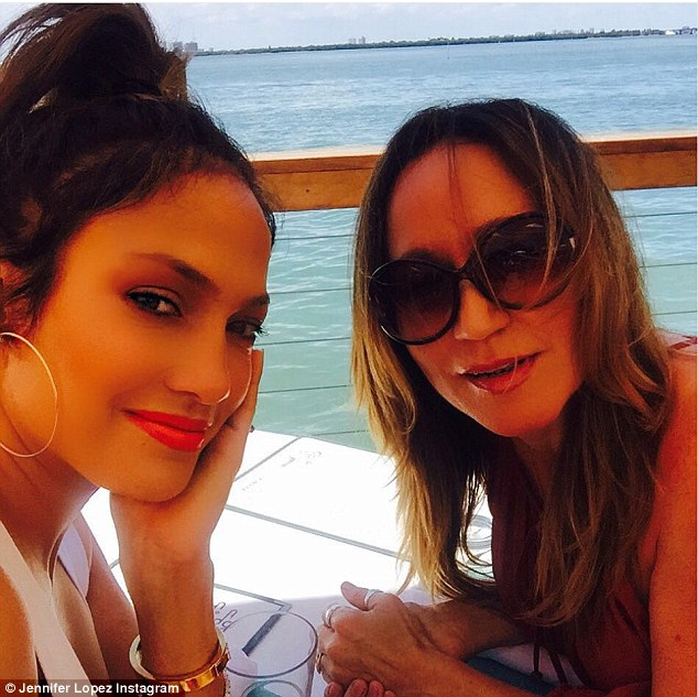 Hungry work: The shopping clearly caused the star to work up an appetite as she later enjoyed a lengthy lunch at a waterfront restaurant with her pal