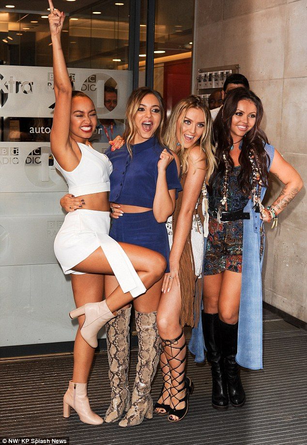 You better work! The girls looked super happy as they posed outside the BBC Radio 1 studio