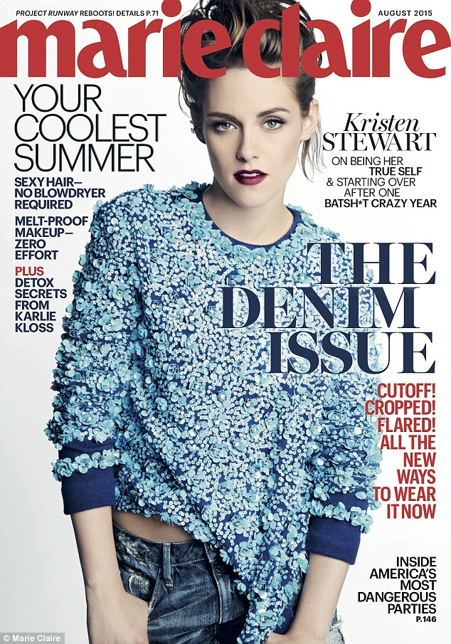 Cover girl: Kristen Stewart appears on the August issue of Marie Claire magazine, out next week