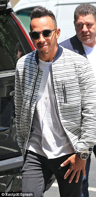 Even more casual! Following his sartorial slip-up on Sunday, Lewis dressed-down even further