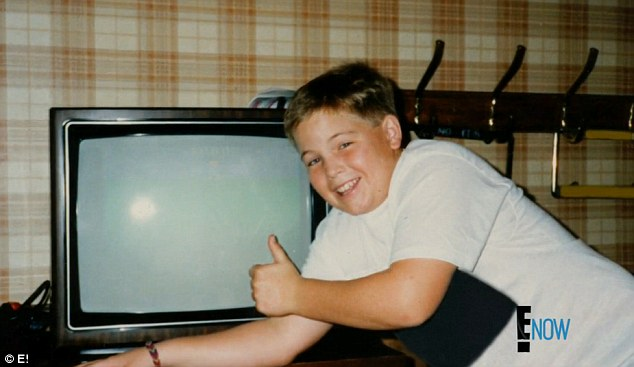 Feeling insecure: Eric (pictured) continued to put on weight throughout his adolescence and was always trying fad diets