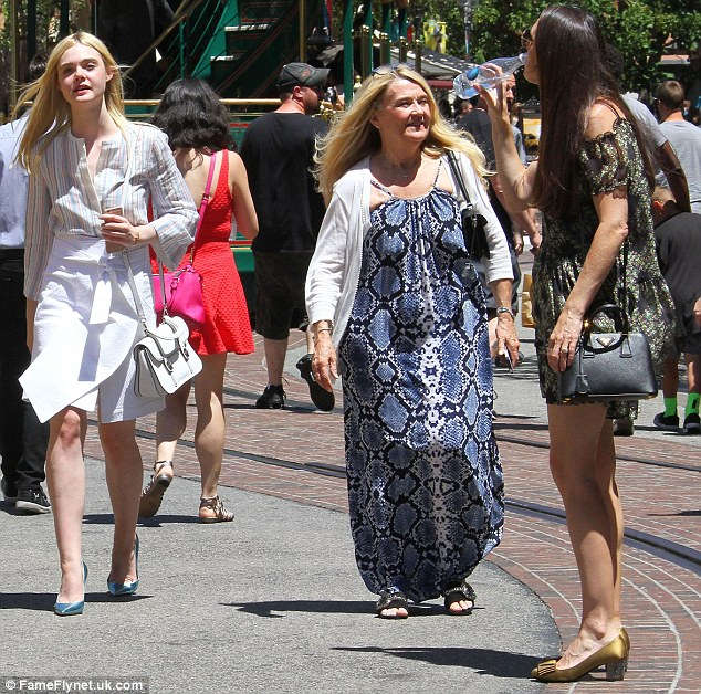 Family bonding: Elle (left) enjoyed a day out with her grandmother, Mary Jane, (centre) and her mother, Heather, (right)