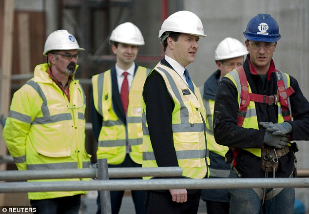 Getting tough: Osborne said reforms were needed because Britain had been 'incapable of building enough homes'