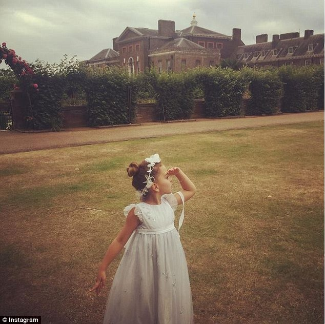 Gorgeous: Actress Kyle Richards tweeted this snap of her daughter Portia Umansky in one of the dresses