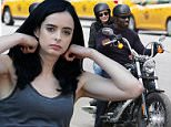 Mandatory Credit: Photo by ACE Pictures/REX Shutterstock (4909277a)\n Krysten Ritter, Mike Colter\n 'AKA Jessica Jones' TV series on set filming, New York, America - 20 Jul 2015\n \n