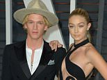 Mandatory Credit: Photo by Stewart Cook/REX Shutterstock (4448579ii).. Cody Simpson, Gigi Hadid.. 87th Academy Awards, Oscars, Vanity Fair After Party, Los Angeles, America - 22 Feb 2015.. ..
