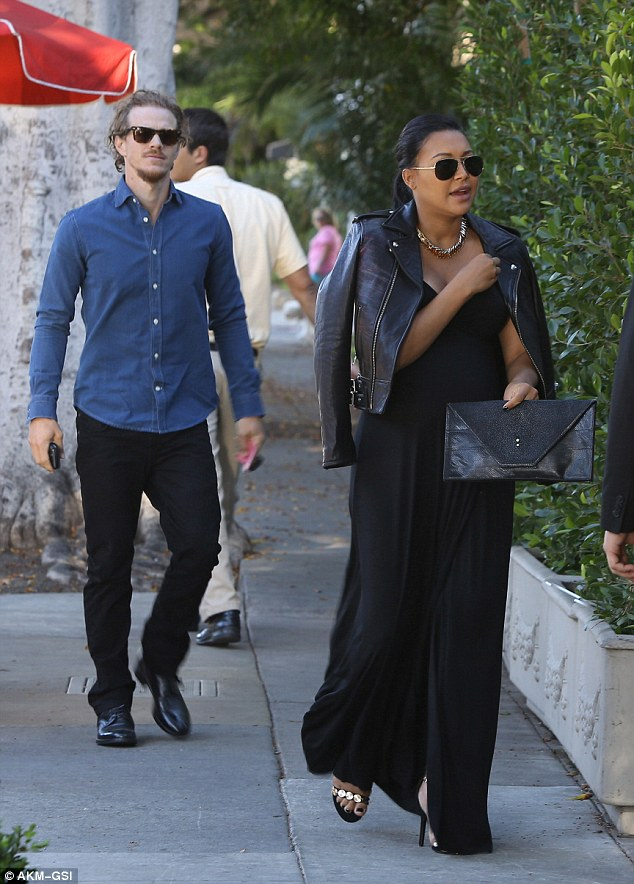 Dinner date: Actress Naya Rivera enjoyed a dinner date with her husband Ryan Dorsey at Il Cielo restaurant in Beverly Hills on Sunday night