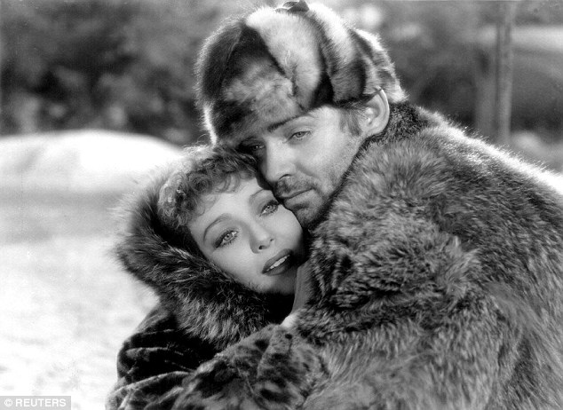 Fateful: Loretta Young (left) pictured with Clark Gable (right) in a scene from Call of the Wild