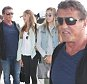 Sylvester Stallone with wife, Jennifer Flavin and their kids at LAX to celebrate his 68th birthday that was two days ago July 8, 2015 X17online.com