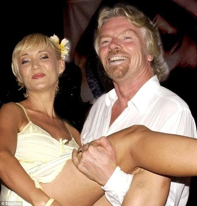 Former life: As former Australian celebrities, the pair used to rub shoulders with A-listers such as billionaire Richard Branson