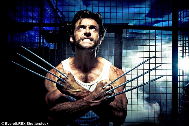 Channing is set to follow in Hugh's footsteps, with the announcement that he will star as the lead in his own X-Men series spin-off Gambit - the same franchise Hugh headed up in the role of Wolverine (pictured)