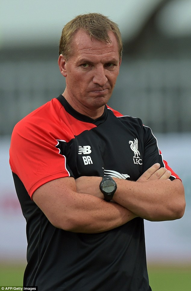 Brendan Rodgers oversees his team as they prepare for their first pre-season match against Thai All-Stars