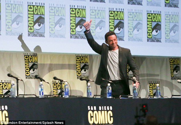 Super hunk: Hugh is a Comic-Con veteran after seeing enormous success playing Wolverine