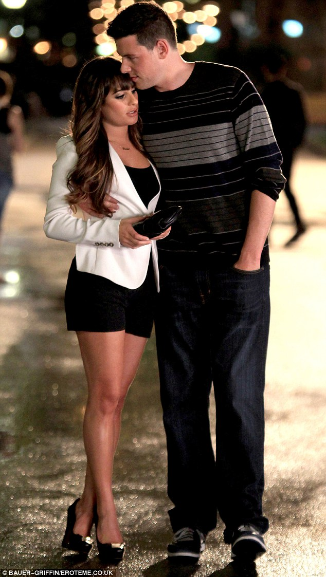 Love on set: Michele and Monteith met and fell in love on the set of the cult high school musical Glee