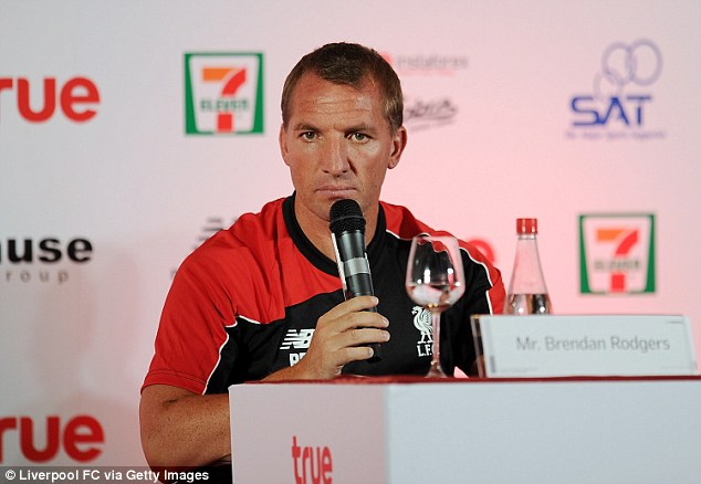 Brendan Rodgers insisted it was his decision to make changes to his backroom staff