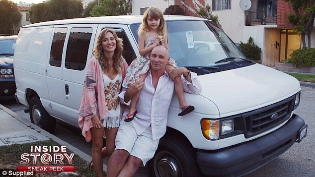 Their home on wheels! Geoff Baker and Bessie Bardot told Daily Mail Australia on Tuesday that the backlash from their leaked orgy snaps in 2008 have nothing to do with their nomadic lifestyle of living in a white van with their daughter BlueBelle, six