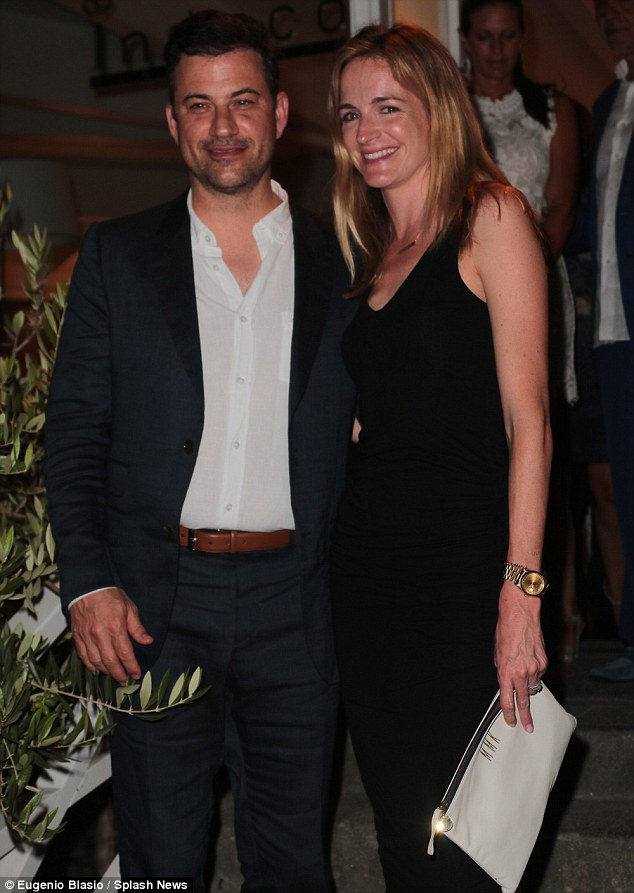 Guests of honor: The couple were the main attraction at the event held on the island off the coast of Naples