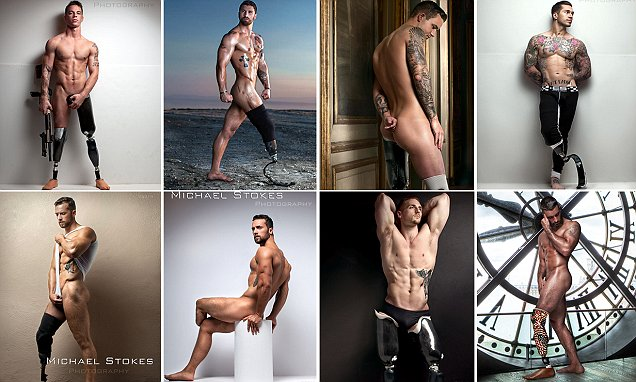 Photographer Michael Stokes captures amputee war veterans naked