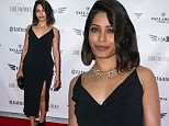 """LOS ANGELES, CA - JULY 20:  Actress Freida Pinto attends the screening of """"Blunt Force Trauma"""" at CAA on July 20, 2015 in Los Angeles, California.  (Photo by Vincent Sandoval/Getty Images)"""