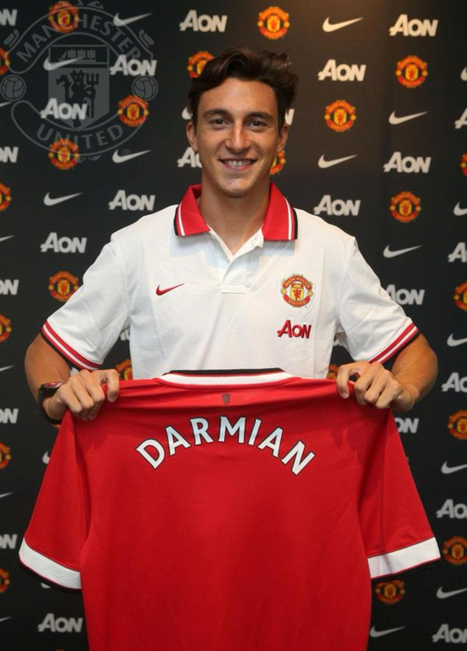 Matteo Darmian was also unveiled by the club ahead of Louis van Gaal taking the team on pre-season tour
